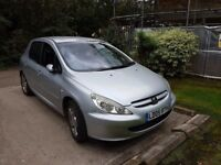 Peugot 307 2.0 16v XSi 5dr (a/c) - Reliable car with long MOT and perfect as a town runaround
