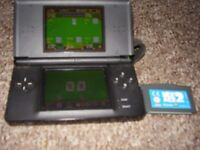 NINTENDO DS LITE BLACK WITH GAMES AND CHARGER