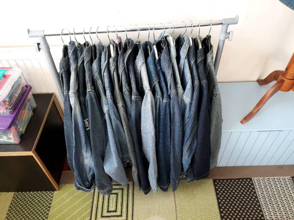 Vintage denim jacket job lot