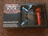 X Factor Special Edition Lucky Voice Party Box / Karaoke - new (originally cost £50)