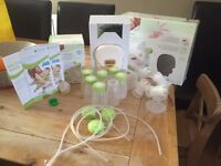 A lifesaver for any breastfeeding mum! Top of the line electrical double breast pump.