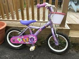 Apollo child's bike with stabilisers
