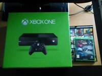 Xbox one console, controller, head set, game, leads and gta 5 guide