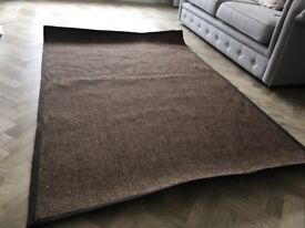 Hessian brown rug