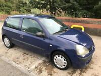 2003 Renault Clio 1.2 16v, 3 Door, 8 Months Mot, private reg, 88,000 Miles! £750