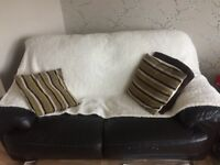 Brown leather sofa for sale, use condition