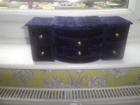 jewellery box blue velvet