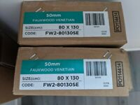 Faux Wood Venetian Slat Blinds - BRAND NEW