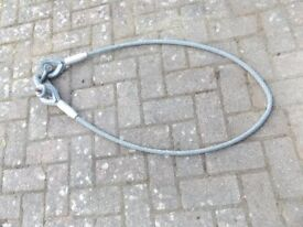 Galvanized wire strop.