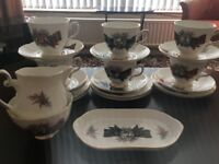 Royal Grafton (Scottish themed) fine bone china tea set