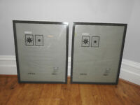 x2 Ikea Dark Grey Ribba 40cm x 50cm Picture Frames