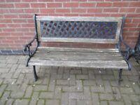 Cast Iron Bench (Wood needs restoration)