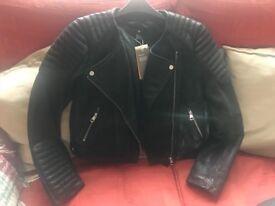 Brand New Genuine Leather ladies biker Jkt size 14