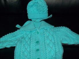 BRAND NEW HAND KNITTED BABY SETS