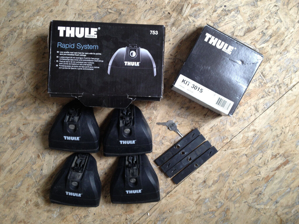thule 753 rapid system and thule 3015 fitting kit were fitted to 57 ford focus only 50 in. Black Bedroom Furniture Sets. Home Design Ideas