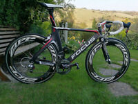 "Carbon road bike Focus Izalco Chrono Pro 1.0 ""WITH FRONT AND REAR ZIPP CLINCHER CARBON 808"""