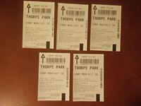 5 Thorpe park tickets