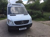 mercedes sprinter 313.mwb high roof.2013.overnight standby.excellent condition