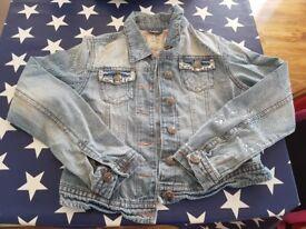 Next Denim Jacket with sequin pockets. Age 11-12.