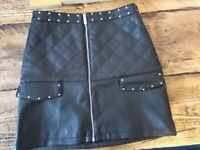 River Island Age 12 Leather Look Skirt