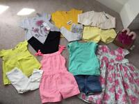 Girls Summer Bundle 12-18m new and used clothes in immaculate condition