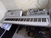 Korg M3 88 key and Radias rack.