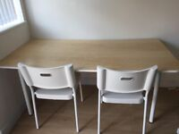 Ikea Bekant Table and 2 Chairs *IMMACULATE CONDITION - NEW - BARGAIN*