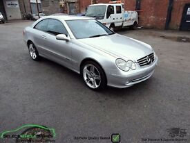MERCEDES BENZ CLK 320 COUPE W209 BREAKING SPARES PARTS SALVAGE SILVER