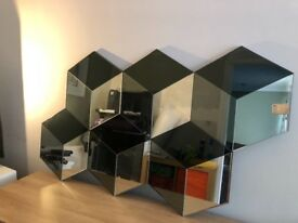 Large mirror from next. Gorgeous cubic design. Solid mirror. Cost £120