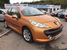 2007 PEUGEOT 207 ORANGE DIESEL HDI SPORT CHEAP CAR ***£30 ROAD TAX***