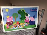 peppa pig poster in frame