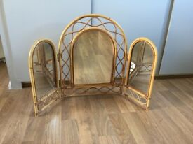 Triple Cane Dressing Table Mirror
