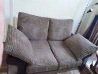 Nearly new 3+2 seater fabric sofa