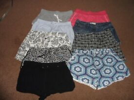 9 pairs of ladies shorts