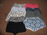 9 pairs of ladies shorts