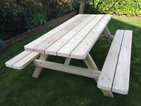 HAND MADE PRESSURE TREATED TANALISED 6FT PICNIC BENCH