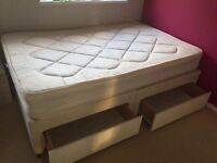 Small double divan bed and mattress
