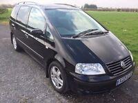 VW SHARAN 1.9 TDI SPORT DIESEL 7 SEATER X REG IN STUNNING METALLIC BLACK WITH 7 SEATS 07867955762