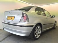 2003   BMW 316Ti Compact   Manual   Petrol   3 Former Keepers   1 Year MOT   HPI Clear