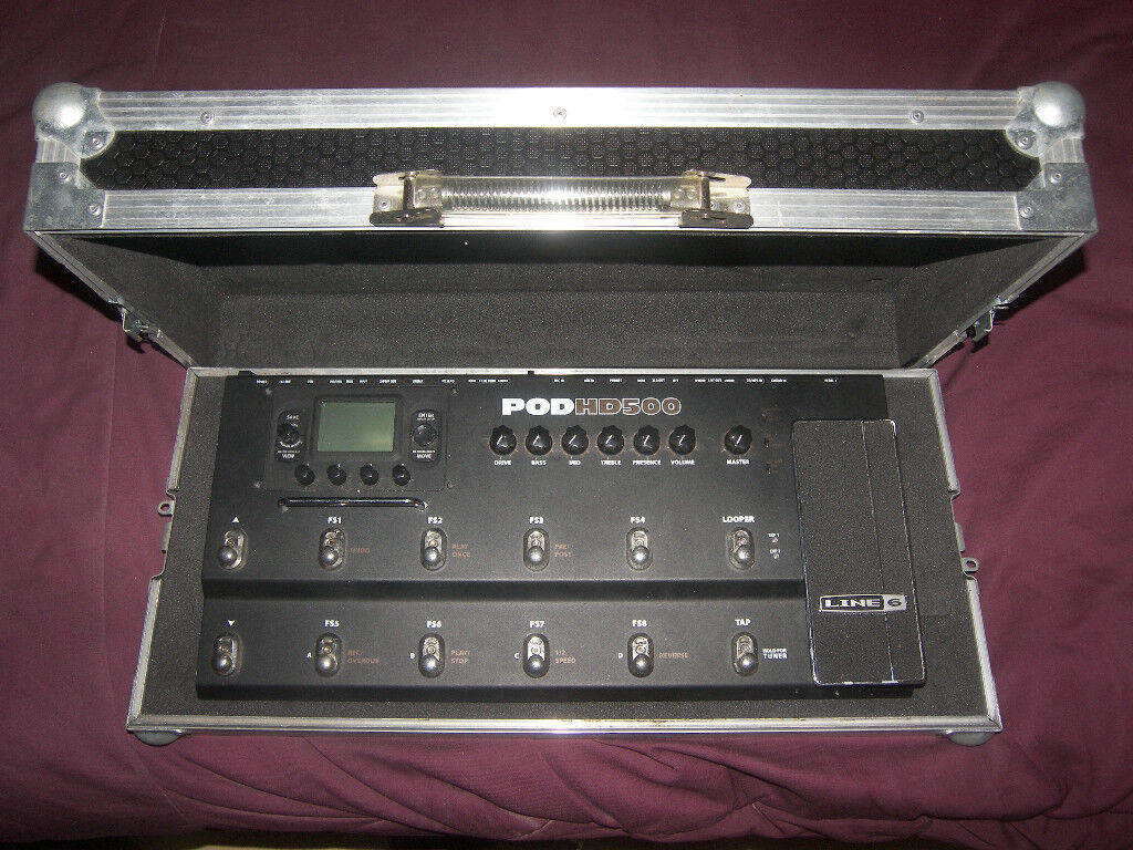 high quality hard case pedal board for guitar effects processors line6 pod500x digitech. Black Bedroom Furniture Sets. Home Design Ideas