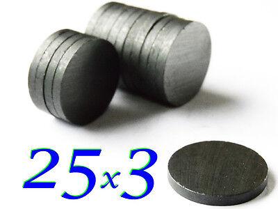 50 pezzi 25x3mm MAGNETI FERRITE Y30 MAGNETE FERRITE CALAMITE CALAMITA
