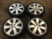17 inch Ford Focus/Fiesta set of 4 alloy wheels and tyres