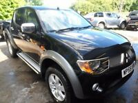 2006 55 MITSUBISHI L200 ANIMAL BLACK , 3 MONTHS WARRANTY ENGINE REBUILD , AUTO , FREE UK DELIVERY