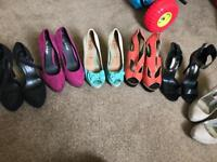 Bundle of size 4 ladies shoes