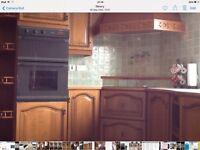 Oak kitchen excellent condition