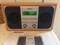 Bush DAB/FM stereo radio wooden digital radio