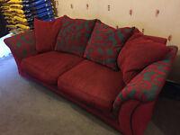 DFS Sofa - Red/Grey Swirls - pet/smoke free home