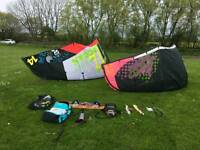 North Kitsurf Quiver, complete. Board, Kites, Bars, Harness