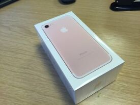 Brand New Sealed Apple iPhone 7 - 128GB - ROSE Gold (UNLOCKED) Smartphone