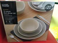 New - Unused 12 piece Dinner set